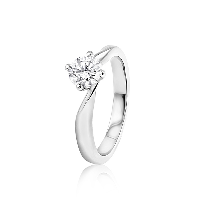 KC Collection Platinum & Diamond Solitaire Ring - 0.71ct