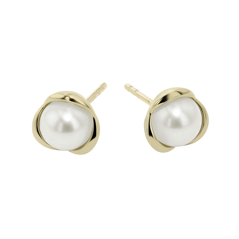9ct Yellow Gold Freshwater Pearl Stud Earrings
