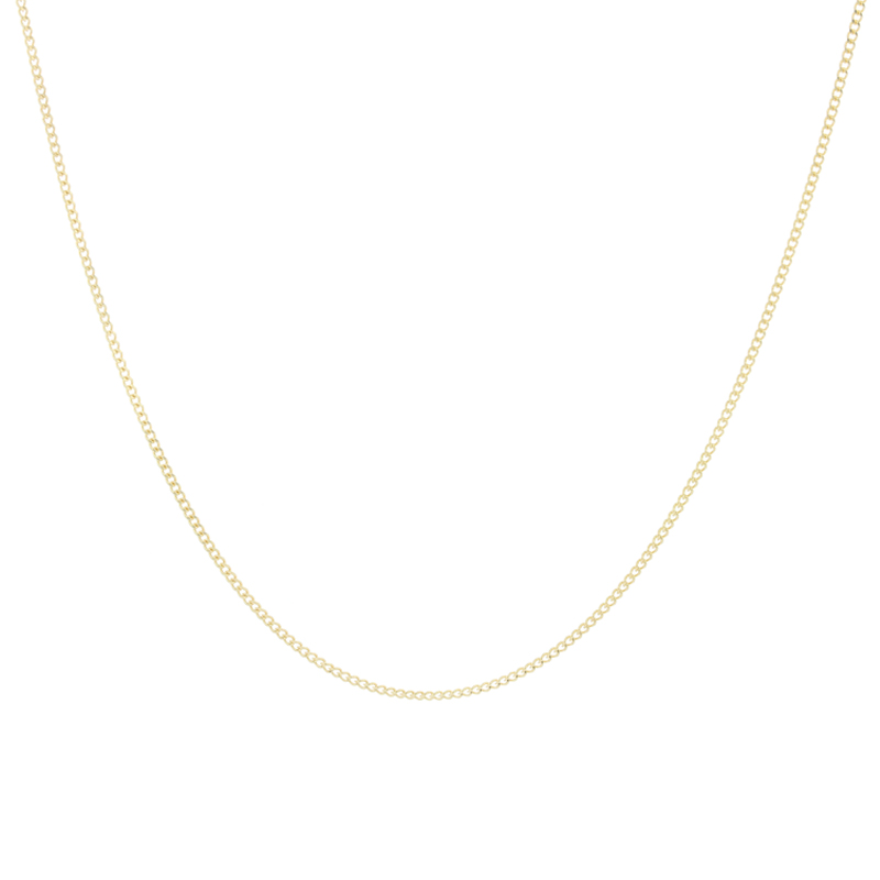 9ct Yellow Gold Curb Chain 18