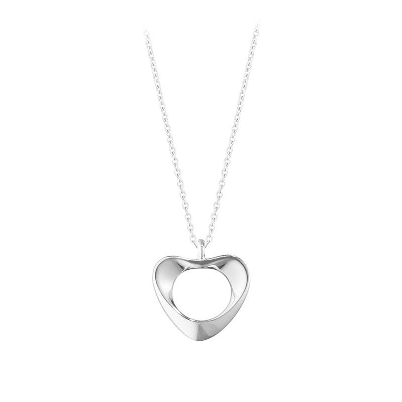 Georg Jensen Hearts Collection Silver Small  Heart Pendant