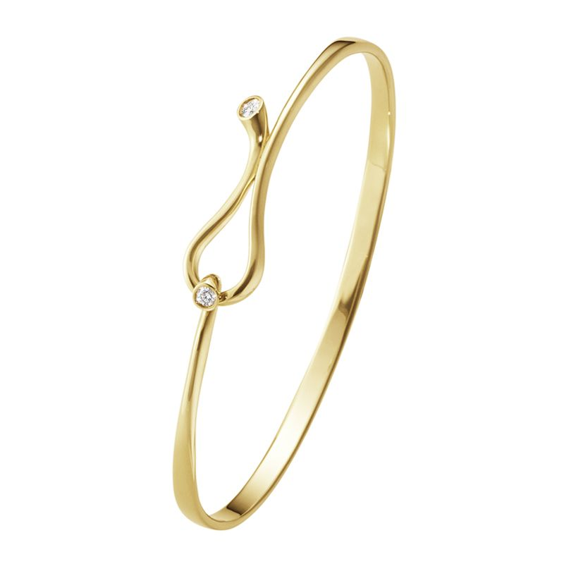 Georg Jensen 18ct Yellow Gold Magic Collection Bangle