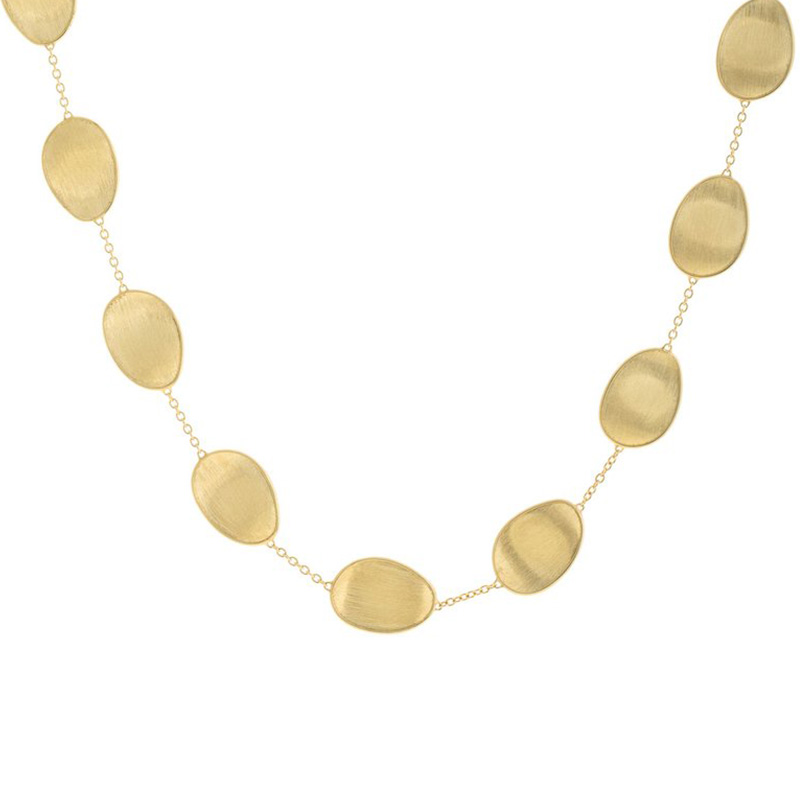 Marco Bicego 18ct Yellow Gold Lunaria Necklet - 17""