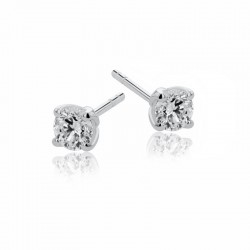 18ct White Gold & Diamond Stud Earrings - 0.63ct