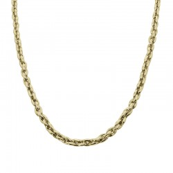 9ct Yellow Gold Close Interlocking Oval Link Chain