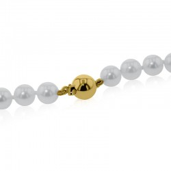 18ct Yellow Gold 6-6.5mm Cultured Pearl Necklace - 18""