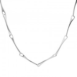 Silver Tapered Bar Link Necklet