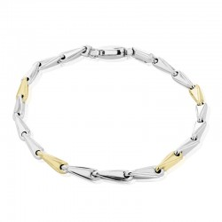 9ct White & Yellow Gold Arrowhead Link Bracelet