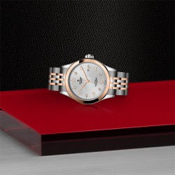 TUDOR 1926 Ladies Silver Diamond Dial Watch - 28mm