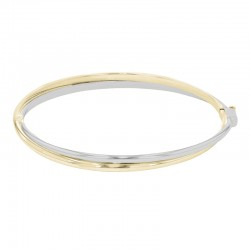9ct Yellow & White Gold Tapered Twist Bangle
