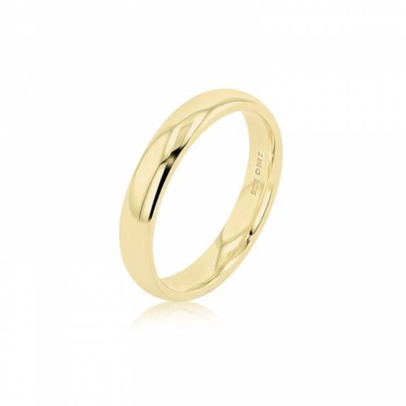 Gents 18ct Yellow Gold Wedding Ring - 4mm