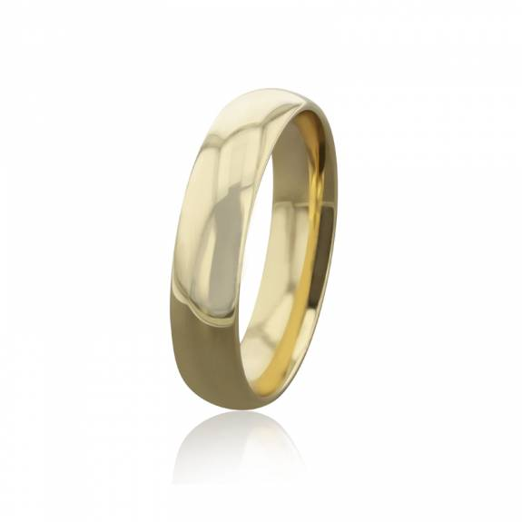 Gents 9ct Yellow Gold Court Wedding Band - 5mm