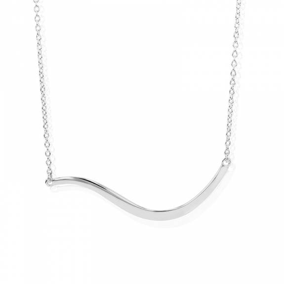 Silver Wavy Bar Necklet