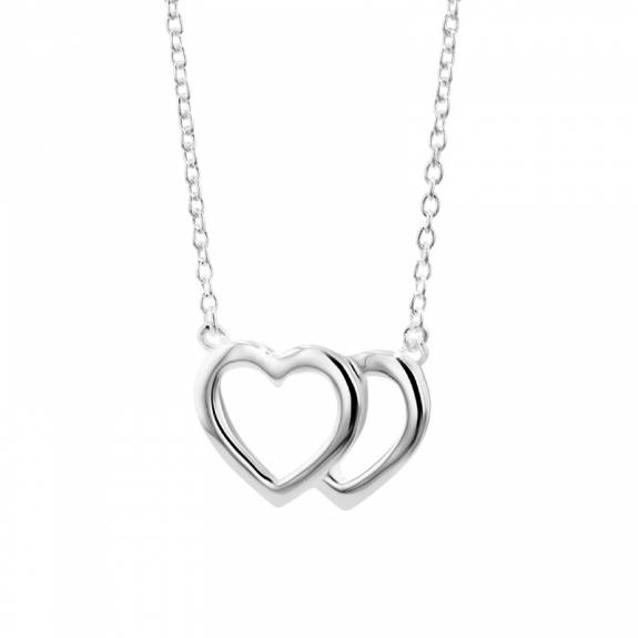 Silver Interlocking Hearts Pendant